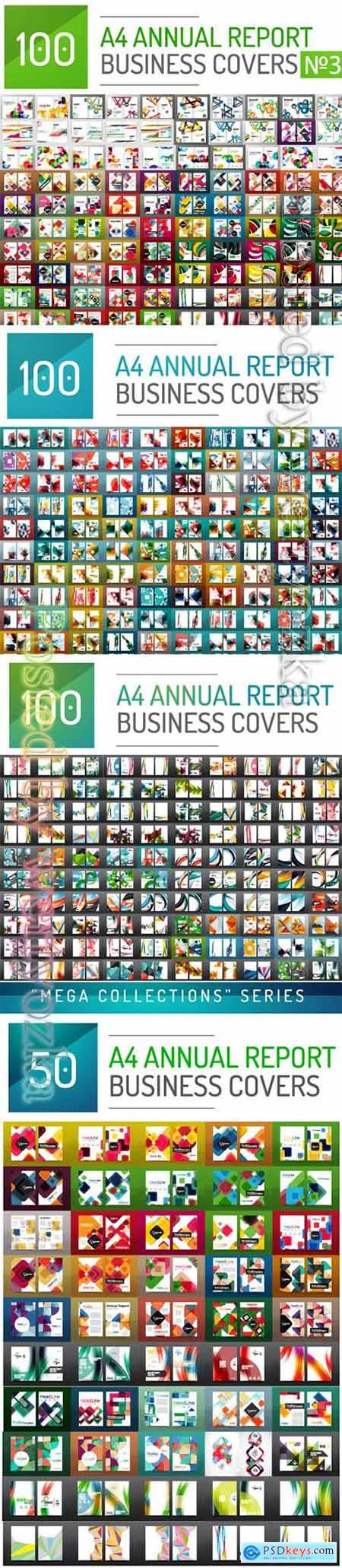 Mega collection business annual report brochure templates