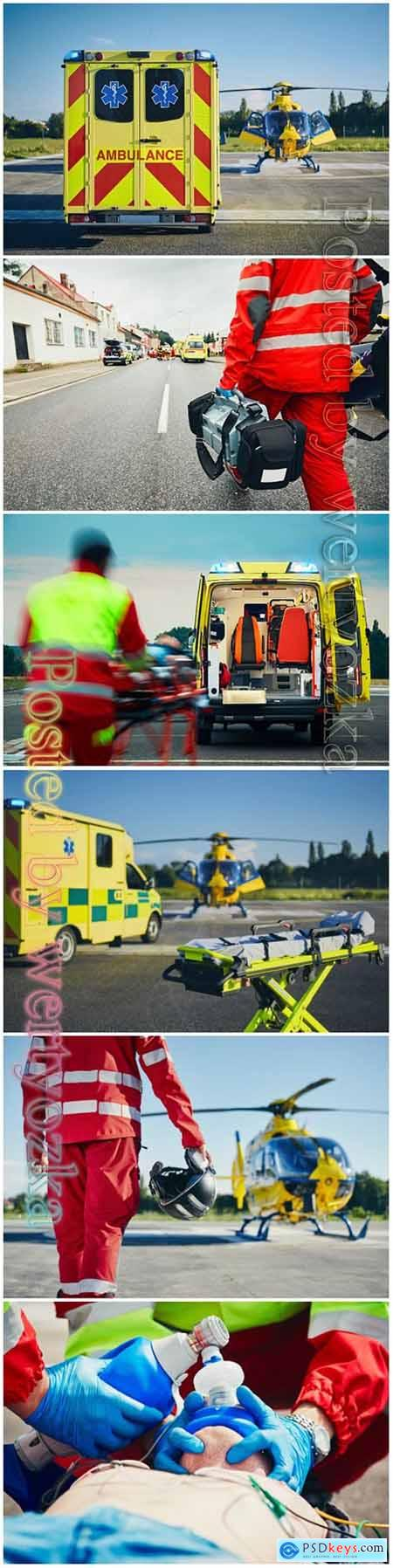 Emergency medical service beautiful stock photo