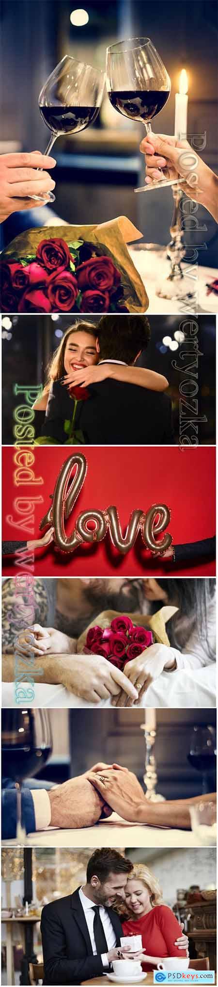 Loving couples beautiful stock photo