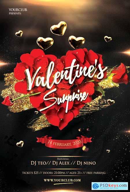 Elegant Valentines Event - Premium flyer psd template