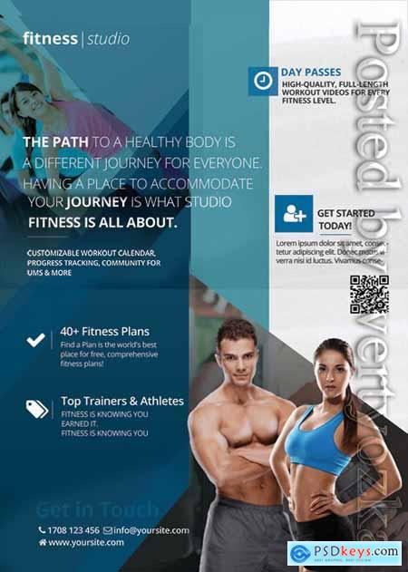 Fitness studio - Premium flyer psd template