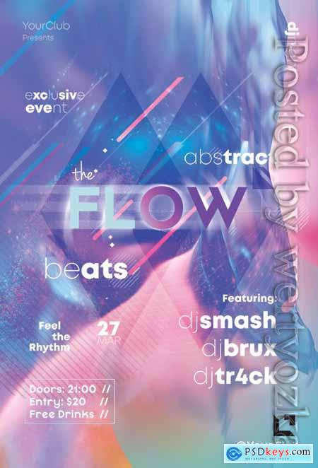 The Flow - Premium flyer psd template