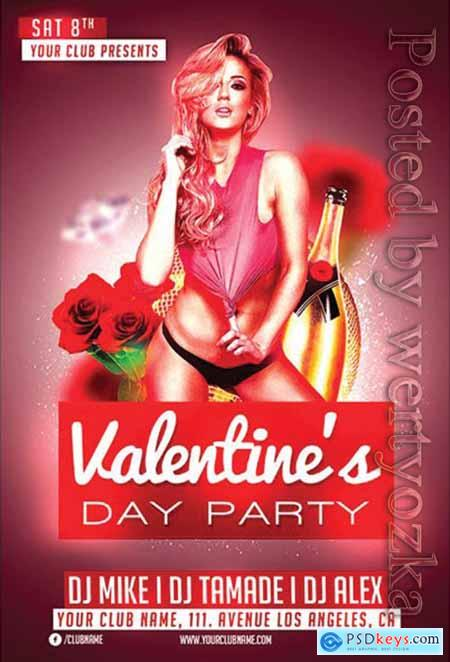 Valentines Day Club - Premium flyer psd template