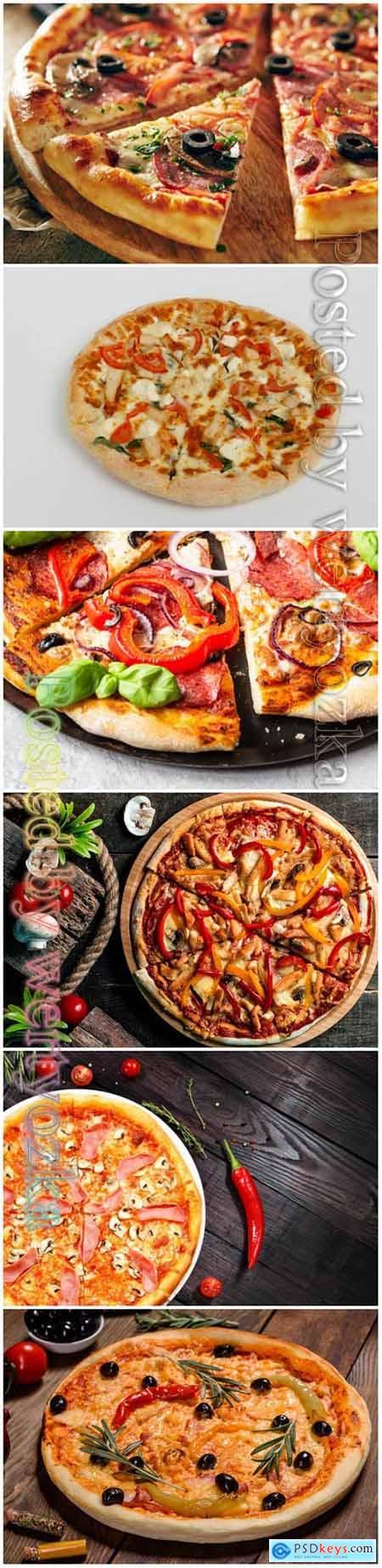 Pizza beautiful stock photo