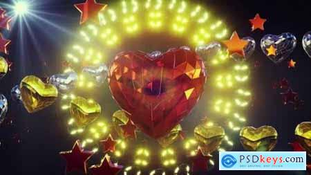 Videohive Shiny Heart Background 4k 25417741