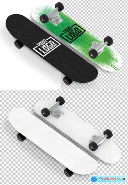2 Skateboard Mockups Isolated on White 263060991