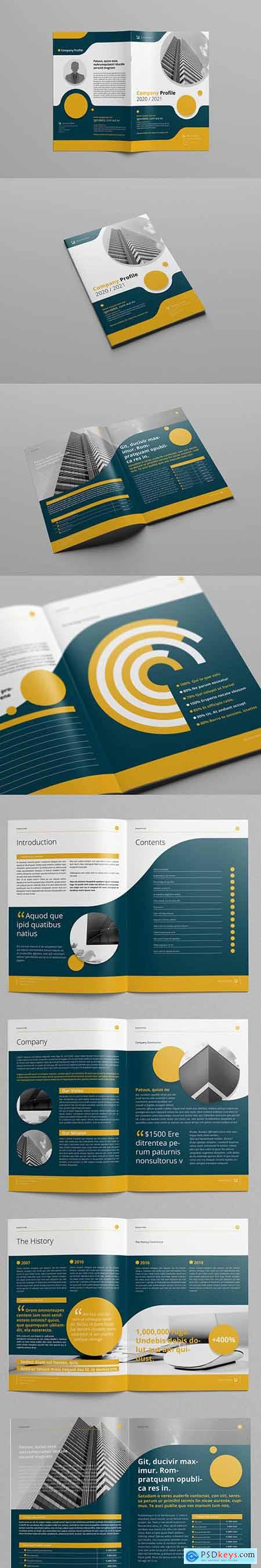 Business Proposal Layout with Yellow and Gray Accents 208112811