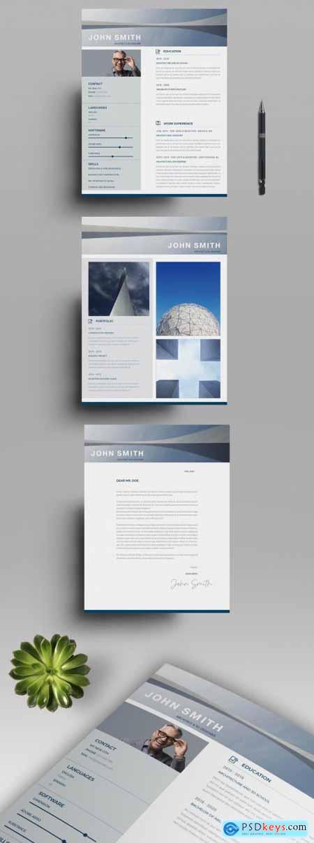 Blue Architecture Resume Layout 317113451