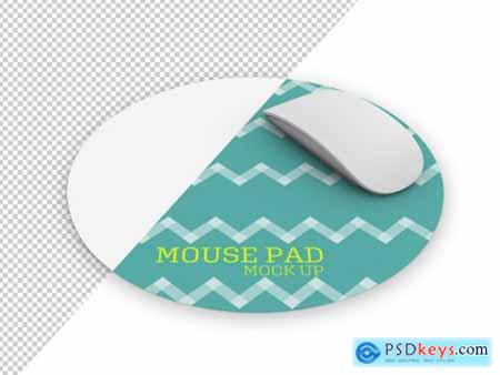 Round Mouse Pad with Mouse Mockup 266364981