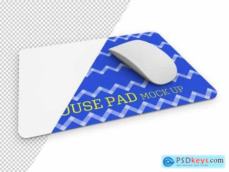 Rectangular Mouse Pad Mockup with Mouse 266363410