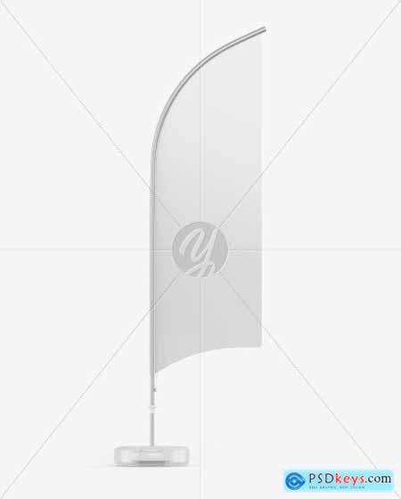 Glossy Convex Flag Mockup 54541