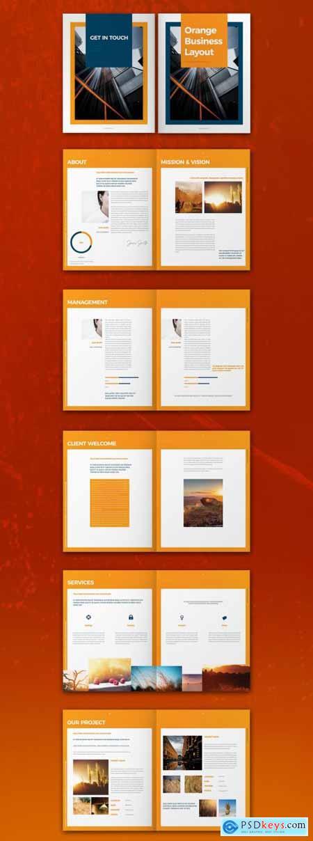 Orange Brochure Layout 317113397