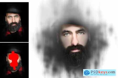 3D Focus Art Effect Photoshop Action 4449686