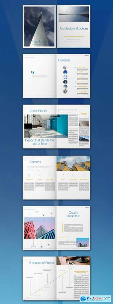 Architecture Brochure Layout 317287136