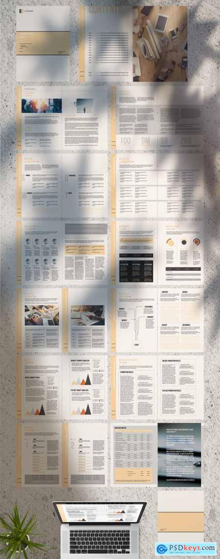 Business Plan Layout with Tan Accents 281477666