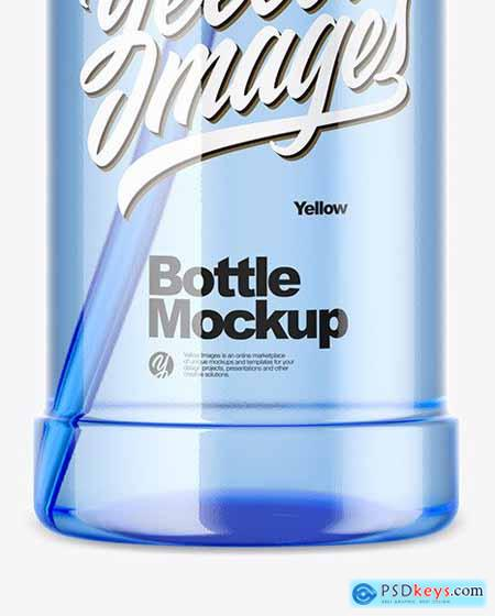 1000ml Blue Pet Sport Bottle Mockup 54447