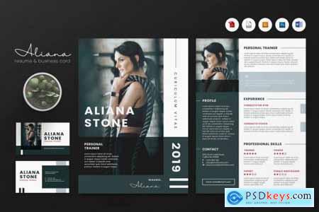 Creative CV Resume & Name Card PSD, DOCX, AI No.22
