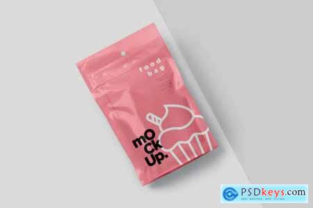 Foil Paper Stand Up Packaging Pouch Mockups