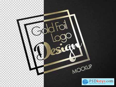 Gold Foil Logo Texture Mockup 317321915