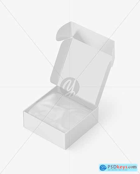 Opened Paper Box Mockup 54624