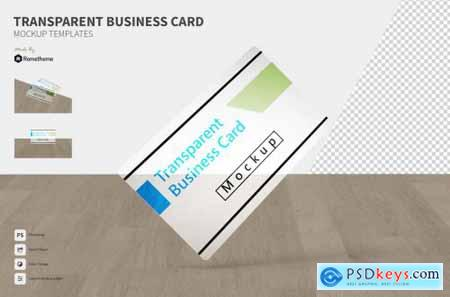 Transparent Business Card - Mockup FH