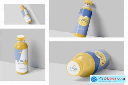 Transparent Plastic Juice Bottle Mockups