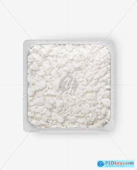 Plastic Tray With Cottage Cheese Mockup 54593
