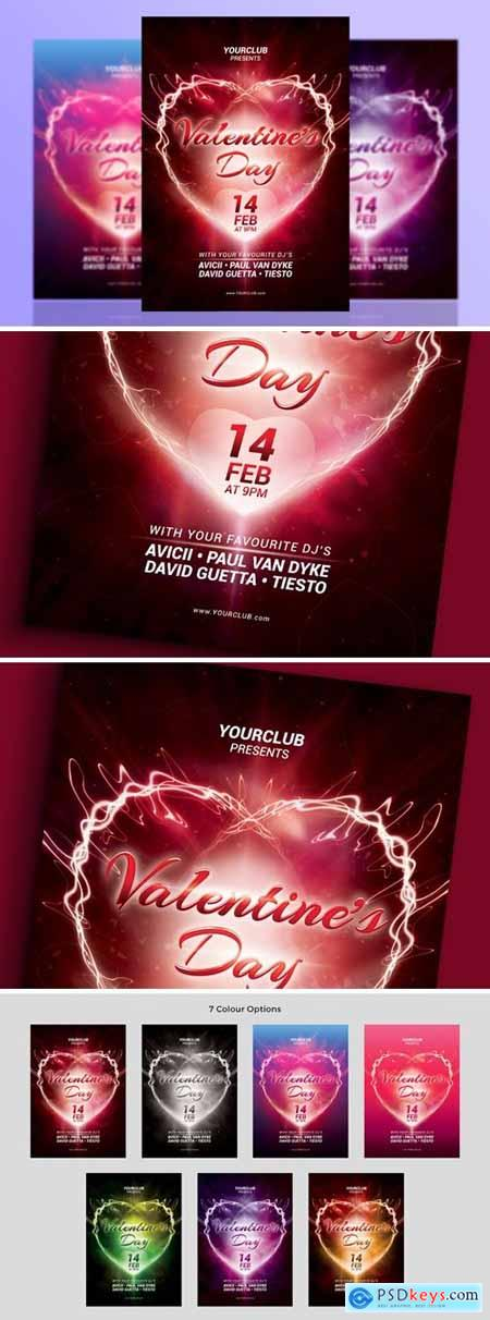 A5 Valentines Day Party Flyer