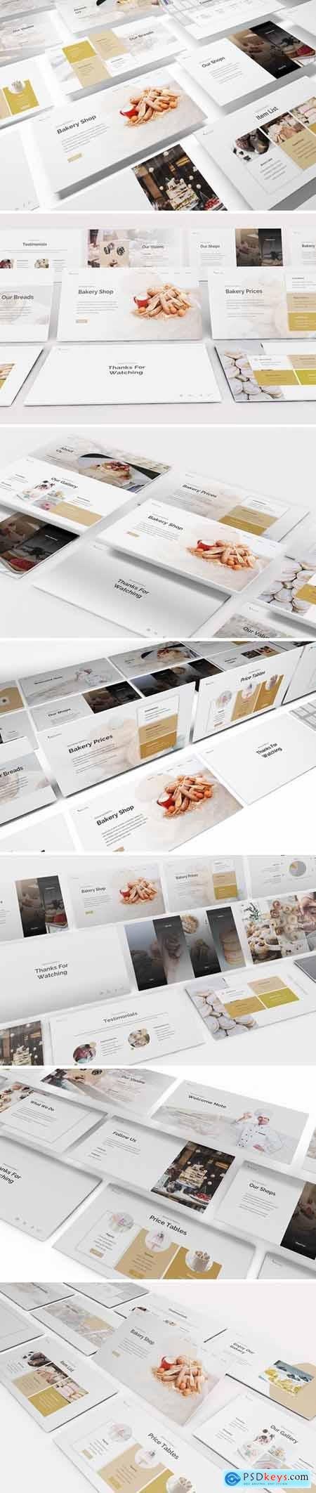 Bakery Powerpoint, Keynote and Google Slides Templates