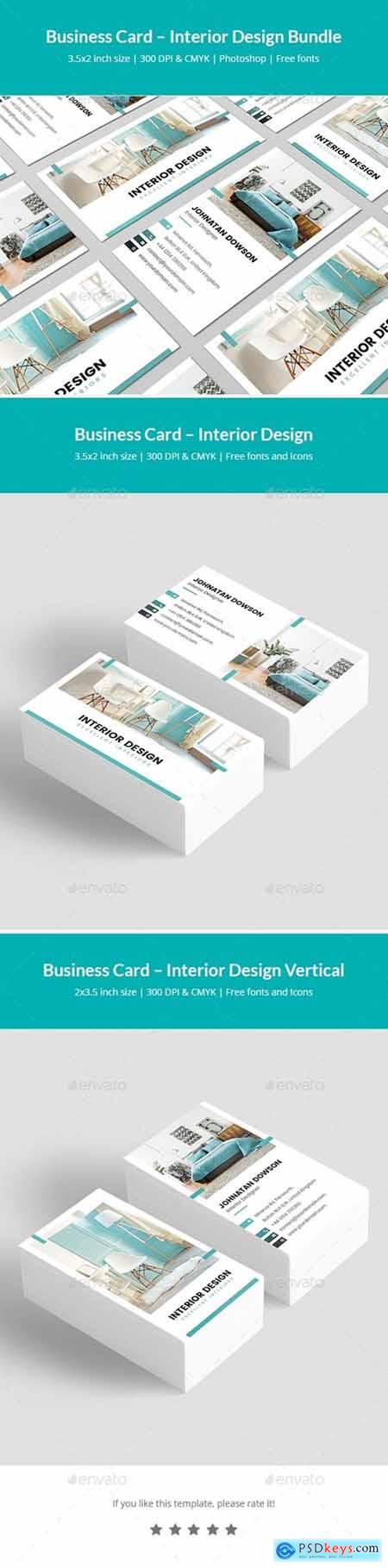 Business Card – Interior Design Bundle Print Templates 2 in 1 25512493