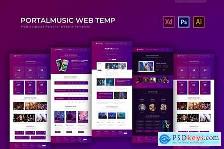 Portalmusic - PSD Web Template