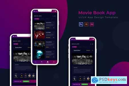 Movie Book - App Design Template