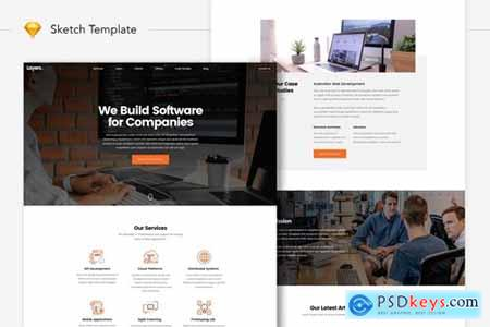 Layers - Software Development Company Website UI
