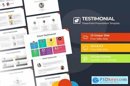 Testimony PowerPoint Presentation Template