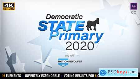 Videohive State Primary or Caucus Election Results Kit 25584117