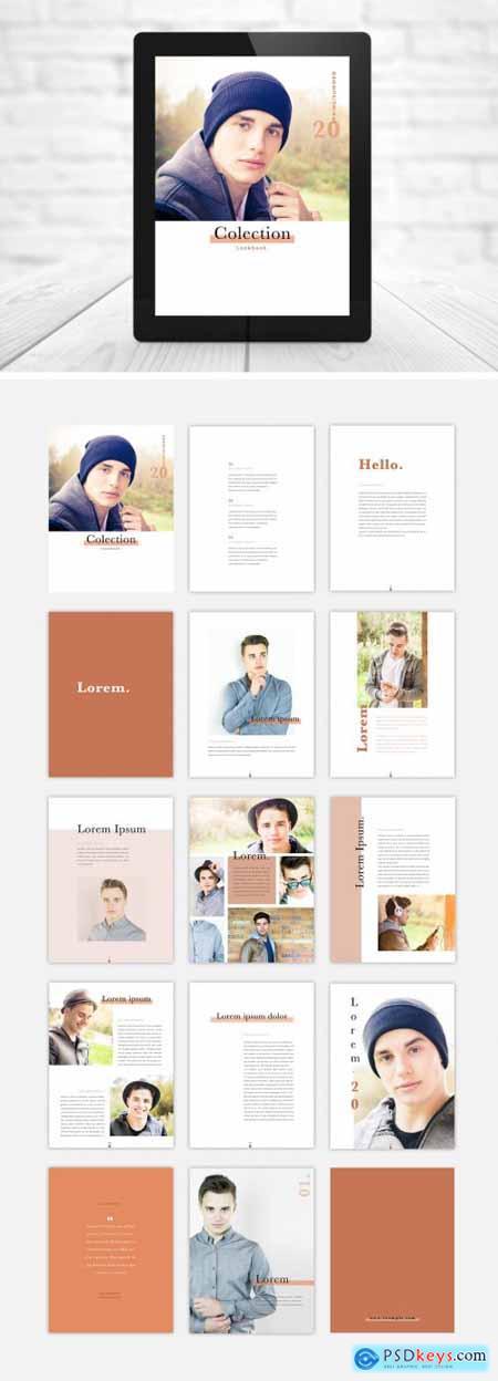 Digital Fashion Lookbook with Peach Accents 317764219
