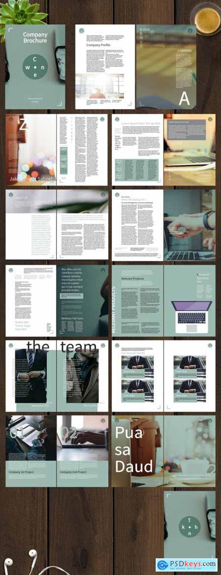 Brochure Layout With Green Accent 261117491