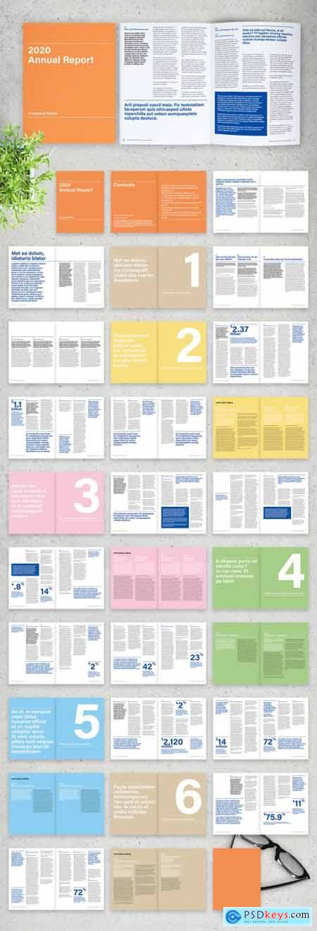 Minimalist Business Annual Report with Blue Accents Brochure 317764080