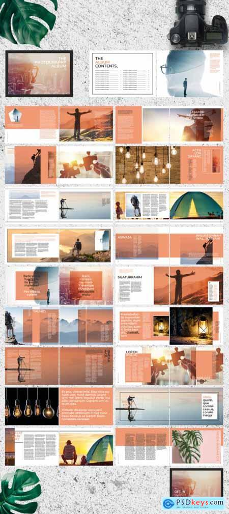 White and Pale Orange Photo Album 274092230