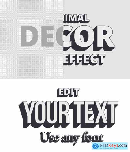 Minimal Decor Shadow Text Effect Mockup 317757193