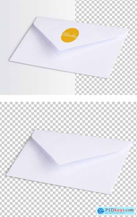 White Envelope Perspective Mockup 317591906
