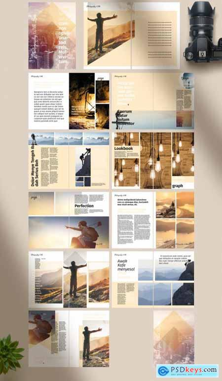 Lookbook Layout with Yellow Accents 274453757