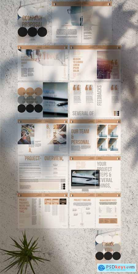 Project Proposal Layout with Circle Background 277429535