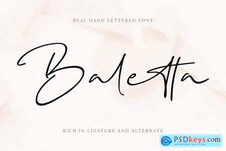 Baletta Signature Font
