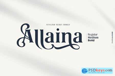 Allaina - Stylish Serif Family