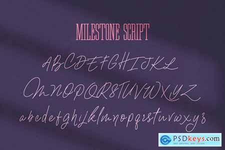 Ultimate Milestone Font Duo 4492095