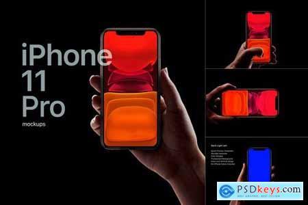 iPhone 11 Pro Mockup dark