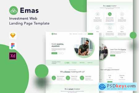 Emas - Investment Website Landing Page