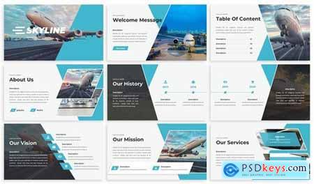 Skylines - Airlines Powerpoint Template