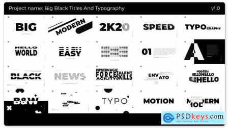 Videohive Big Black Titles And Typography 25272115